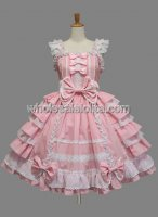 Cheap Multilayer Pink Sweet Lolita Dress Sleeveless