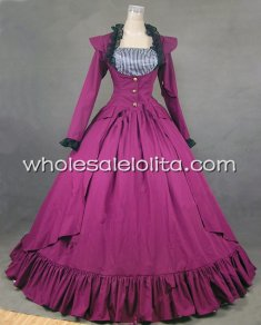 Rose Red Gothic Victorian Ball Gown Dress