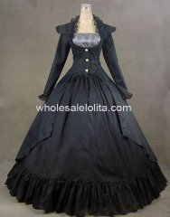 Gothic Victorian 3-PC Period Dress Reenactment Theatre Costume