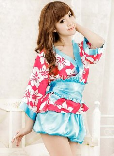 Cheap Silk Kimono Robe Print Dress Sexy Dress Up