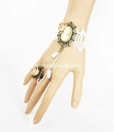 Royal Court Rose Beauty Image White Lace Ladies Bracelet