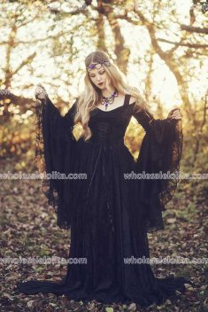 Limited Time Custom Order Available! Gothic Gwendolyn Medieval or Renaissance Fairy Wedding Gown Velvet and Lace Custom