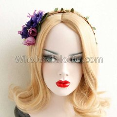 Christmas Rattan Flowers Headband Masquerade Accessories