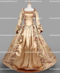 18th Century Period Dress Champagne Marie Antoinette Gown Reenactment Theater Clothing