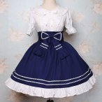 Lolita Japanese School style Restoring Ancient Ways of Tall Waist Dress Skirt
