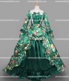 18th Century Rococo Dress Green Marie Antoinette Victorian Dress Prom/Wedding Dress Ball Gown