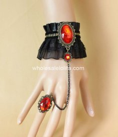 Vampire Secret Sexy Black & Red Ladies Bracelet/Wrist Strap