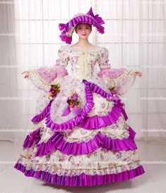 18th Century Rococo Style Marie Antoinette Inspired Prom Dress/Day Gown