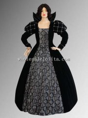 "Custom Made 16/17th Century Medieval Renaissance Gown Handmade ""Silver Rose"" Elizabethan Style Dress"