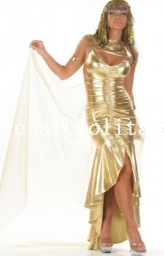 Breathtaking Queen of Egypt Long Gown with Veil