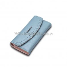 Female Wallet for dollar price brand and women's purse genuine leather money bag Sky Blue Ladies walet