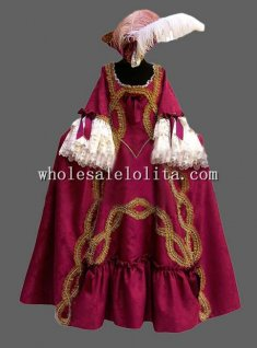 Wine Red CARNIVAL OF VENICE Masquerade Costume Theatrical Costume