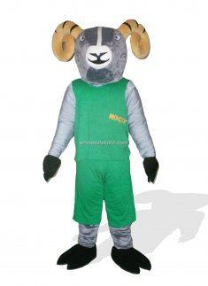Goat In Green Clothes Plush Costume for Adult Under 200