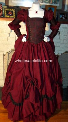 Gothic Renaissance Pirate Gown Victorian Period Dress Theme Costume