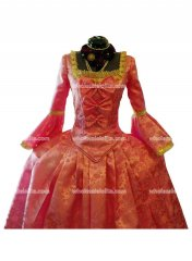 Georgian Period Dress Marie Antoinette Long Stain Masquerade Ball Gown