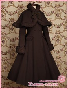 Hot Sale Coffee Wool Classic Lolita Coat