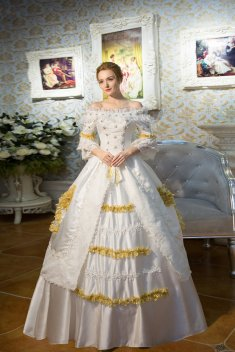 18th Century Rococo Style Marie Antoinette Wedding Dress