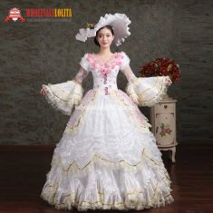 Women Elegance Embroidery Marie Antoinette Rococo Party Dresses
