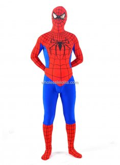 Blue And Red Spandex Spiderman Costume