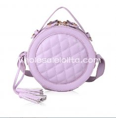 Fashion Diamond Check Sweet Purple Small Lolita Totes Bag/Messenger Bag