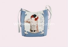 Elegant Sea Blue Cute Cartoon Single Shoulder Bag