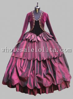 Deluxe Purple Victorian Era Dress Venice Carnival Costume