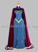 Disney Cosplay Cartoon Movie FROZEN Queen Elsa Adult Costume