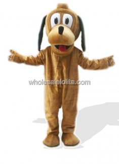 Goofy Plush Dog Mascot Costume for Adult