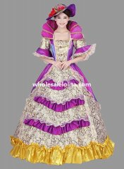 Historical Marie Antoinette Theme Party Dress Ball Gown Theatre Clothing N6