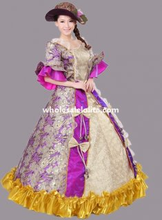 Historical Marie Antoinette Theme Party Dress Ball Gown Theatre Clothing N4