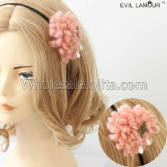 Simple Wool Flowers Butterfly Headband Masquerade Accessories