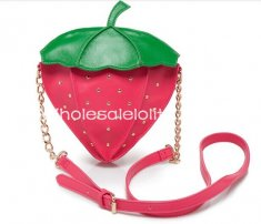 Cute Lolita Mini Strawberry Bag Sweet Girls Fruit Single Shoulder Bag