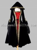 Black and Red Euro Court Dress & Witch Halloween Costume
