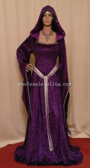 Medieval Renaissance Purple ELVEN FAIRY Dress Custom Made