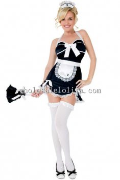 Sexy Maid for Call Halter Dress