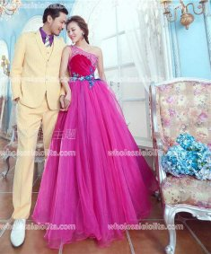 Fashion One-Shoulder Rose Stage Long Prom Dress