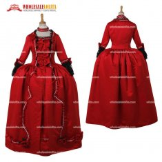 Women's Marie Antoinette Baroque Gothic Victorian Red Dress
