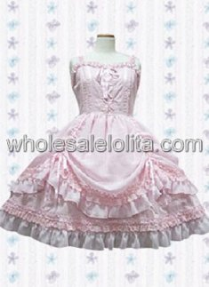 Pink Sleeveless Ruffled Cotton Sweet Lolita Dress