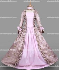 18th Century Period Dress Light Purple Marie Antoinette Victorian Dress Reenactment Theater Clothing