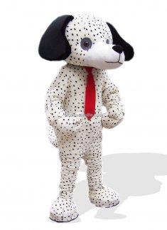 Adult Dalmatian Dog Mascot Costume