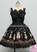 Sweet Cotton Rabbit Embroidery JSK Lolita Dress with Bow