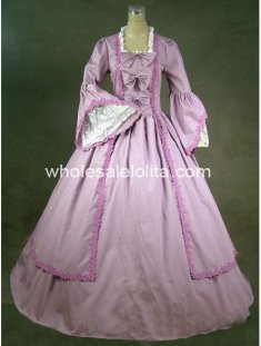 18th Century Theme Dress Lavender Marie Antoinette Period Dress Ball Gown Performance Clothing
