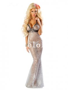 Halloween Sexy Silver Mermaid Cosplay Costume Masquerade Costume