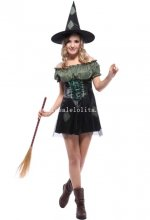 Adult Witch Halloween Costume Masquerade Party Dress