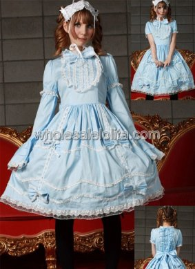 Light Blue and White Sweet Lolita Dress