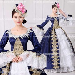 2017 Brand New Embroidery Marie Antoinette Dress Civil War Southern Belle Masquerade Ball Gown Reenactment Women Clothing