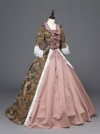 Marie Antoinette Renaissance Princess Dress Ball Gown with Train Reenactment Clothing Theater Quality