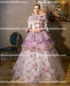 Classic 18th Century Marie Antoinette Inspired Dress Wedding Masquerade Gown