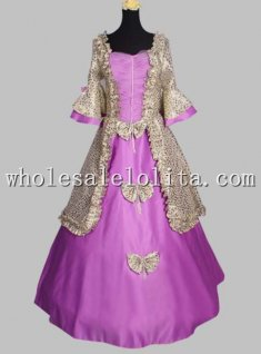 Simple Design Marie Antoinette European Court Period Dress Stage Costume