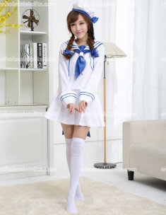 Japan Lovely Blue/White Sailor Lolita Costume